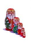 Muñecas de Matryoshka de la Navidad Imagenes de archivo