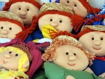 Muñecas de trapo Imágenes de archivo libres de regalías