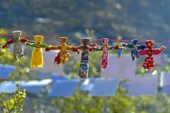 Muñecas de trapo del verano Foto de archivo libre de regalías