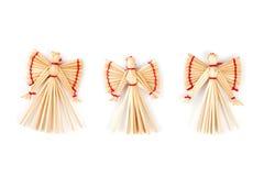 Muñecas decorativas strawy de la Navidad fotos de archivo libres de regalías