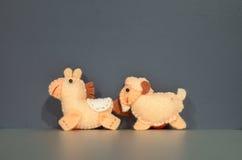 Muñecas del caballo y de la cabra Imagen de archivo libre de regalías