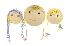 Muñecas del papel Imagen de archivo