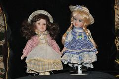 Muñecas del vintage fotos de archivo