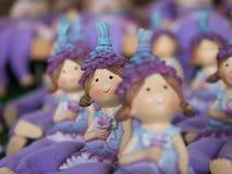 Muñecas en el mercado de la Navidad de Munich Foto de archivo libre de regalías