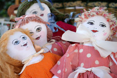 Muñecas hechas a mano Foto de archivo libre de regalías