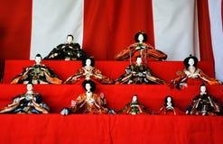 Muñecas japonesas de Hina Imágenes de archivo libres de regalías