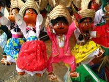 Muñecas mexicanas de la marioneta Imagenes de archivo