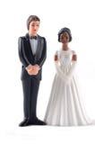 Muñecas multirraciales de la boda fotografía de archivo libre de regalías