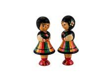 Muñecas polacas del vintage Imágenes de archivo libres de regalías