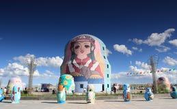 Muñecas rusas de la jerarquización Fotografía de archivo libre de regalías