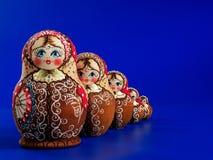 Muñecas rusas de la jerarquización imagenes de archivo