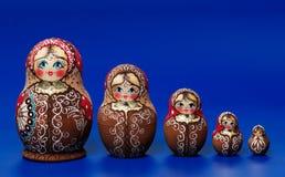 Muñecas rusas de la jerarquización Fotografía de archivo
