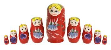 Muñecas rusas de la jerarquización Foto de archivo