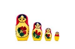 Muñecas rusas de la jerarquización (babushkas o matryoshkas) Foto de archivo libre de regalías