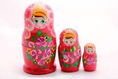 Muñecas rusas de la jerarquización de Babushka imagen de archivo libre de regalías