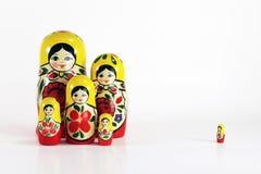 muñecas rusas de la jerarquización del matryoshka Fotos de archivo