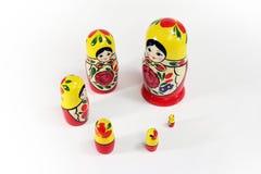 muñecas rusas de la jerarquización del matryoshka Imágenes de archivo libres de regalías