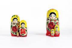 muñecas rusas de la jerarquización del matryoshka Foto de archivo libre de regalías