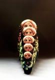Muñecas rusas en línea Imagen de archivo libre de regalías