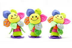 Muñecas sonrientes de la cara del girasol Imagen de archivo libre de regalías