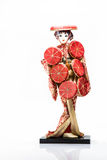 Muñecas tradicionales de las mujeres de Japón Foto de archivo libre de regalías