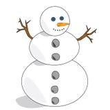 Muñeco de nieve 1 Foto de archivo libre de regalías