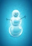 Muñeco de nieve ilustración del vector