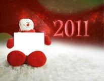 Muñeco de nieve 2011 de Happpy Fotografía de archivo