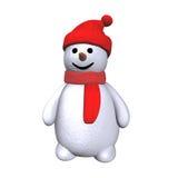 Muñeco de nieve 3d Fotografía de archivo