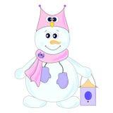 Muñeco de nieve stock de ilustración