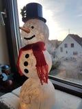Muñeco de nieve Fotografía de archivo