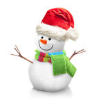Muñeco de nieve aislado Fotos de archivo libres de regalías