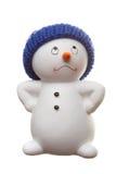 Muñeco de nieve aislado en blanco Fotos de archivo libres de regalías