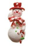 Muñeco de nieve aislado en blanco Fotografía de archivo libre de regalías