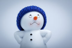 Muñeco de nieve alegre Imagen de archivo libre de regalías