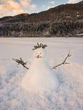 Muñeco de nieve alpino Imagen de archivo libre de regalías
