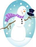 Muñeco de nieve apuesto Fotos de archivo