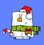 Muñeco de nieve con los regalos 2 Imagen de archivo