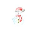 Muñeco de nieve con un sombrero alegre Imagen de archivo libre de regalías