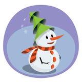 Muñeco de nieve creativo Fotografía de archivo libre de regalías