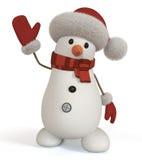 muñeco de nieve 3d Foto de archivo