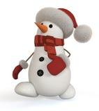 muñeco de nieve 3d Imágenes de archivo libres de regalías