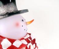 Muñeco de nieve de cristal Foto de archivo libre de regalías