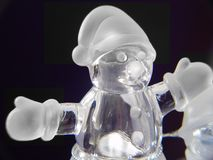 Muñeco de nieve de cristal Fotos de archivo