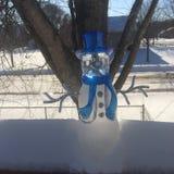 Muñeco de nieve de cristal Imagen de archivo
