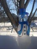Muñeco de nieve de cristal Fotos de archivo libres de regalías