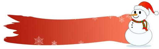 Muñeco de nieve de la cabecera de la Navidad stock de ilustración