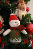 Muñeco de nieve de la decoración de la Navidad Foto de archivo