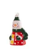 Muñeco de nieve de la decoración del Año Nuevo aislado en un fondo blanco Imagen de archivo libre de regalías