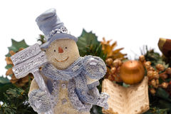 Muñeco de nieve de la Feliz Navidad Fotos de archivo